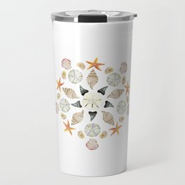 Florida Beachcombing Mandala 1 - Watercolor Travel Mug