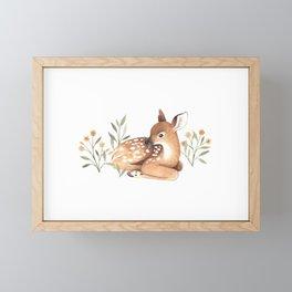 Meadow and Fawn Framed Mini Art Print