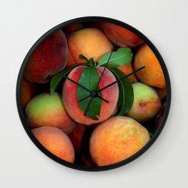 Peachy Peaches Wall Clock