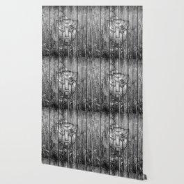 Autobot Monochrome Wood Texture Wallpaper