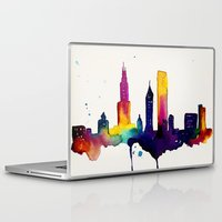 chicago map Laptop & iPad Skins featuring Chicago  by Talula Christian