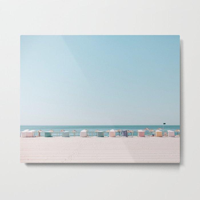 Beach Huts Metal Print