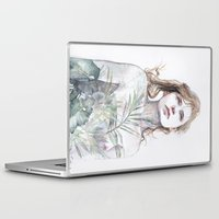 breathe Laptop & iPad Skins featuring Breathe in, breathe out by agnes-cecile