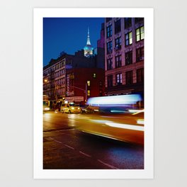 Taxi's Whizzing By Art Print
