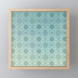 Elegance in Teal Framed Mini Art Print