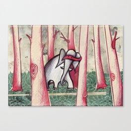 Elephant Hood Canvas Print