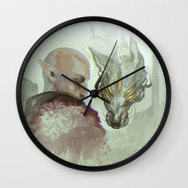 He Walks Alone Wall Clock