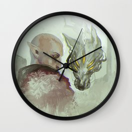 He Walks Alone Wall Clock