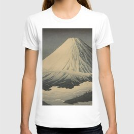 Shotei Takahashi Four Seasons of Mount Fuji Near Omuro Kawase Hasui Japanese Woodblock Print T-shirt