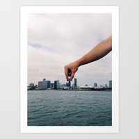 san diego Art Prints featuring San Diego by technopaul