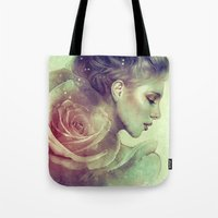 kpop Tote Bags featuring June by Anna Dittmann