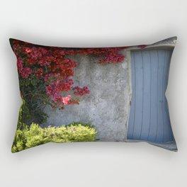 Blue door French Riviera Rectangular Pillow