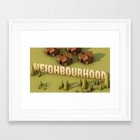 the neighbourhood Framed Art Prints featuring NEIGHBOURHOOD by Nick Lemmens