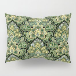 Green and Blue Paisley Pillow Sham