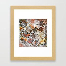 Burnished leaves Framed Art Print