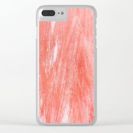 Flamingo Pink Clear iPhone Case