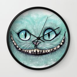 Cheshire Cat - Drawing - Dibujados Wall Clock