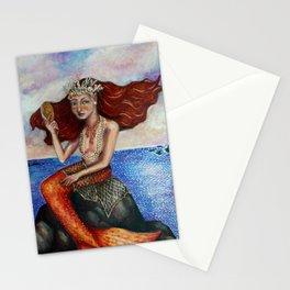 The Mermaid Comb Stationery Cards