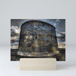 Martello tower - flight into the sea Mini Art Print