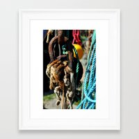 tool Framed Art Prints featuring fisherman's tool by  Agostino Lo Coco