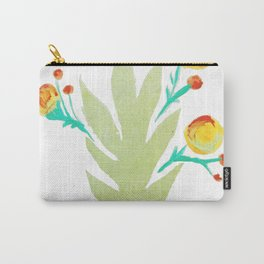 Leaf Print Carry-All Pouch