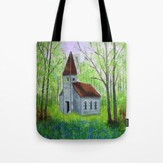 Abandoned  Country Church  Tote Bag