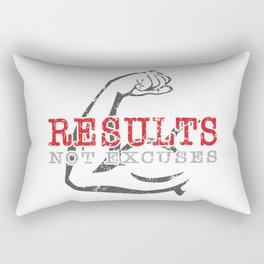 Results Not Excuses Rectangular Pillow
