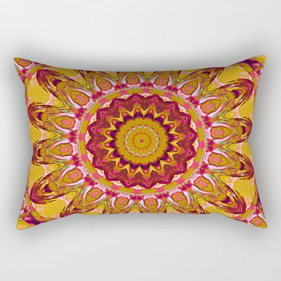 The goldish mandala Rectangular Pillow