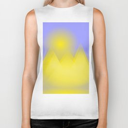 The three pyramids in the sun Biker Tank
