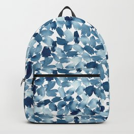Blue Abstract Watercolor Backpack