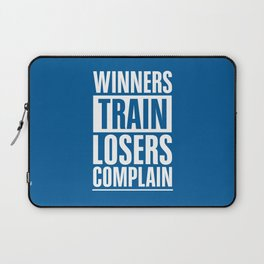Lab No. 4 - Winners Train Losers Complain Inspirational Quotes poster Laptop Sleeve