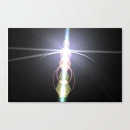 close to the moon lens flare Canvas Print
