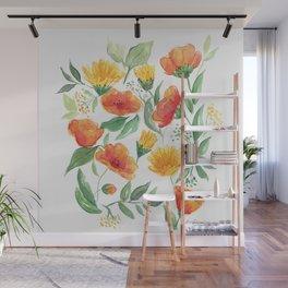 Spring Wildflowers Wall Mural