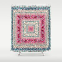 square Shower Curtains featuring Square by Truly Juel