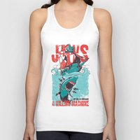 jaws Tank Tops featuring Jaws by Tshirt-Factory