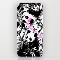 pandas iPhone & iPod Skins featuring Pandas by beach please