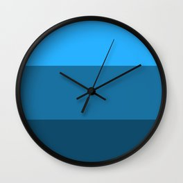 Blue Gradient Pattern Wall Clock