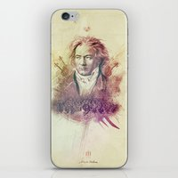 beethoven iPhone & iPod Skins featuring Beethoven by Rafal Rola