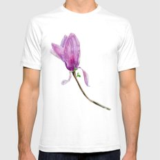 Other magnolia flower SMALL White Mens Fitted Tee