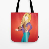 doll Tote Bags featuring Doll by Flying Cat Artwork