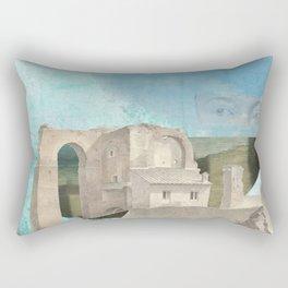 Faded fantasies of a neglected mind Rectangular Pillow