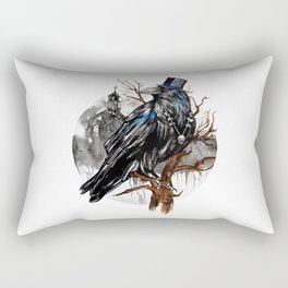 Dark Raven Rectangular Pillow