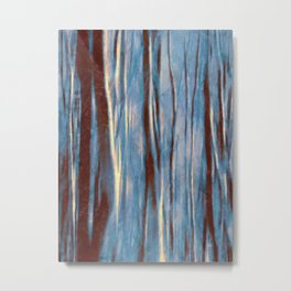 Dawn in the Winter Forest | Landscape Mood Painting Metal Print