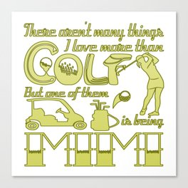 Golf Mimi Canvas Print