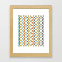 Retro Circles Mid Century Modern Background Framed Art Print