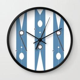 Clothespin navy Wall Clock