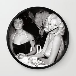 'Best Envy' Iconic Hollywood Starlet Black and White Photograph Wall Clock