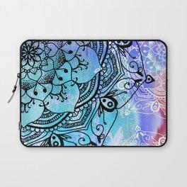 Bohemian Secret Blue & Pink Mandala Design Laptop Sleeve