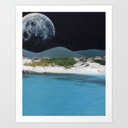 Blue Waters Art Print