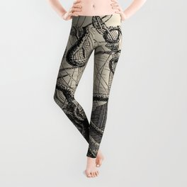 """The octopus; or, The """"Devil-fish"""" - Henry Lee - 1875 Giant Octopus Sinking Ship Leggings"""